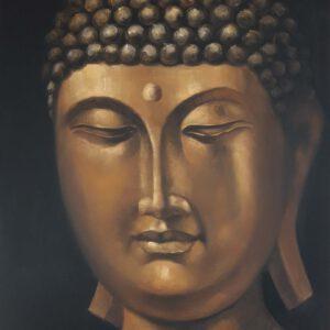Käsinmaalattu taulu - Öljyväri - Buddha - AK-Taulucenter