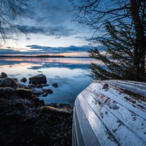 2-osaiset Canvastaulusarjat – Vesijärvi Syksy Vene