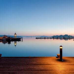 2-osaiset Canvastaulusarjat – Lahden Satama Auringonlasku 2