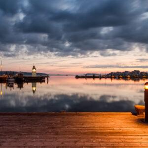 5-osaiset Symmetriset Canvastaulusarjat – Lahden Satama Auringonlasku 3