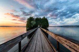 Myllysaari auringonlasku - Jari Sokka - AK-Taulucenter