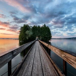 2-osaiset Canvastaulusarjat – Myllysaari Auringonlasku