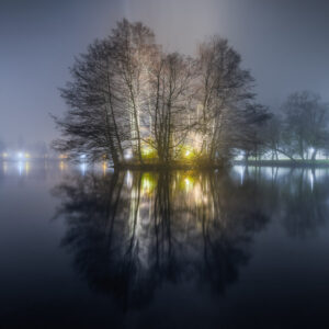 2-osaiset Canvastaulusarjat – Pikku Vesijärvi Syksyinen Sumu