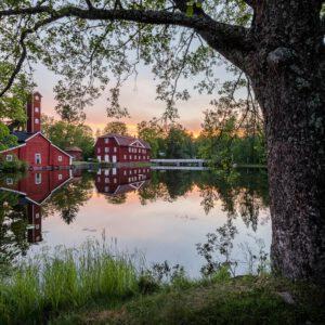 2-osaiset Canvastaulusarjat – Ruotsinpyhtää Heijastus Auringonlaskussa