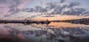 Lahden satama panorama - Mikael Rantalainen - AK-Taulucenter