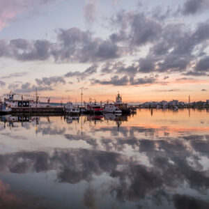 2-osaiset Canvastaulusarjat – Lahden Satama Auringonlasku