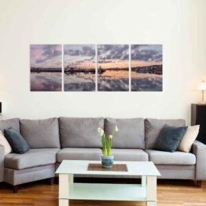 4-osaiset ja 5-osaiset Canvastaulusarjat – Lahden Satama Panorama