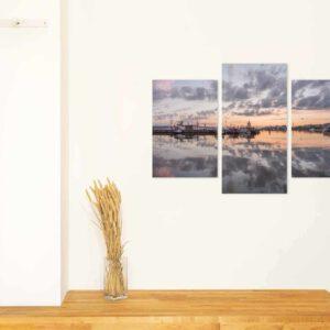 3-osaiset Symmetriset Canvastaulusarjat – Lahden Satama Panorama