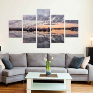 5-osaiset Symmetriset Canvastaulusarjat – Lahden Satama Panorama