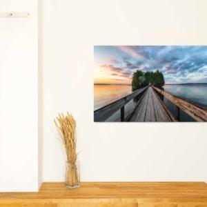 1-osainen Canvastaulu – Myllysaaren silta ja auringonlasku