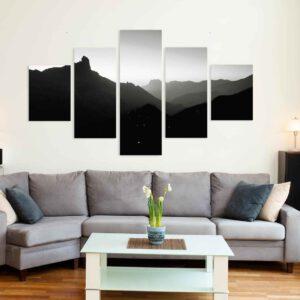 5-osaiset Symmetriset Canvastaulusarjat – Tejeda 1