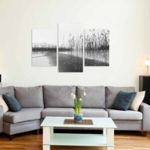 3-osaiset Symmetriset Canvastaulusarjat – Vesijärvi 1