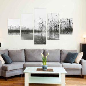 5-osaiset Symmetriset Canvastaulusarjat – Vesijärvi 1