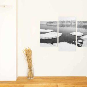 3-osaiset Symmetriset Canvastaulusarjat – Lauttasaari Vattuniemi 1