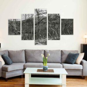 5-osaiset Symmetriset Canvastaulusarjat – Senja 1