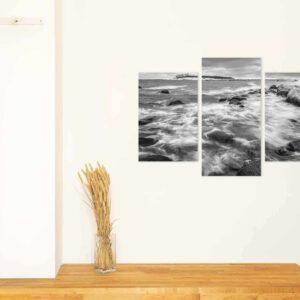3-osaiset Symmetriset Canvastaulusarjat – Lauttasaari Talvi 1