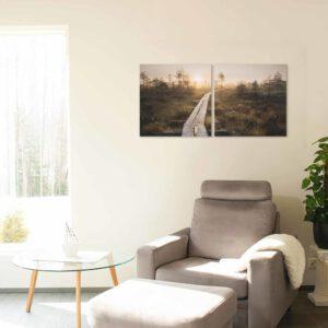 2-osaiset Canvastaulusarjat – Linnaistensuon Pitkospuut Auringonlasku