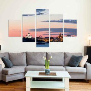 5-osaiset Symmetriset Canvastaulusarjat – Helsinki 3