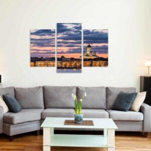 3-osaiset Symmetriset Canvastaulusarjat – Helsinki 2