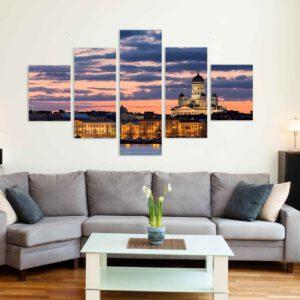 5-osaiset Symmetriset Canvastaulusarjat – Helsinki 2