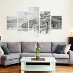 5-osaiset Symmetriset Canvastaulusarjat – Lauttasaari Vattuniemi 2