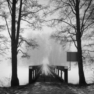 1-osainen Canvastaulu – Myllysaaren silta talvella