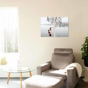 2-, 3- ja 4-osaiset akustiikkapaneelisarjat – Vaimee – Myllysaari 2  (korkeus 90 cm)