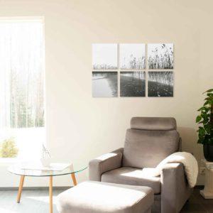 6-osaiset ja 8-osaiset akustiikkapaneelisarjat – Konto -Vesijärvi 1   (60×60 cm)